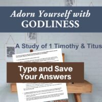 1 Timothy and Titus Bible Study-Interactive Fillable Workbook