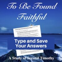 2 Timothy Bible Study-Interactive Fillable Workbook