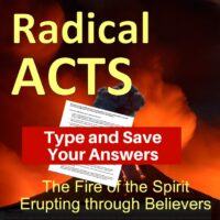 Acts Bible Study-Interactive Fillable Workbook