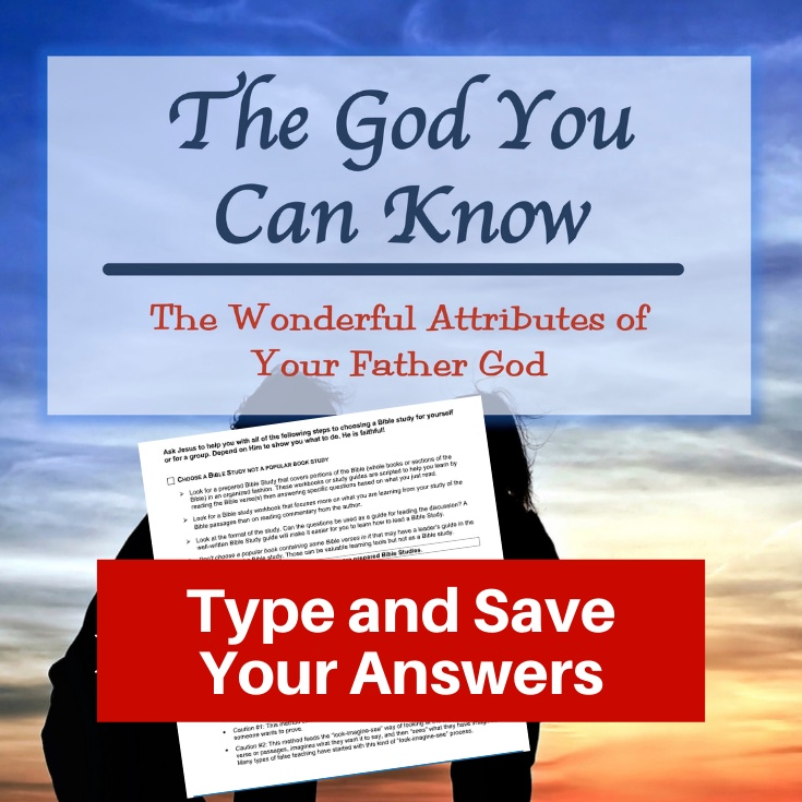 Attributes of God Bible Study-Interactive Fillable Workbook