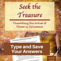 Ephesians Bible Study-Interactive Fillable Workbook