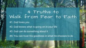 Walk from Fear to Faith - MelanieNewton.com