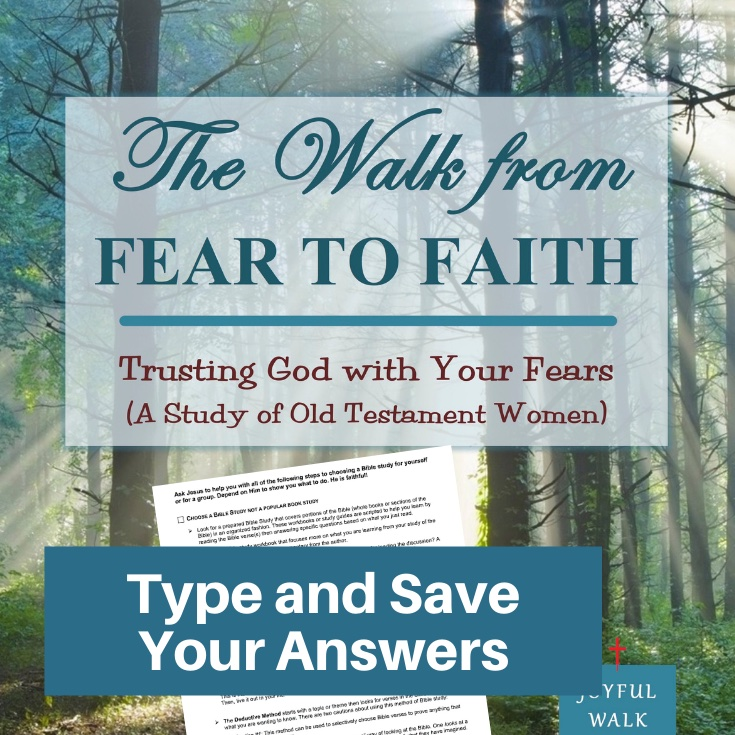 Fear to Faith Bible Study-Interactive Fillable Workbook