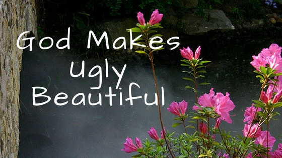 God makes ugly beautiful. Joyful Walking Blog by Melanie Newton. Read at melanienewton.com.