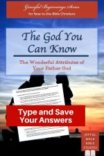 Attributes of God Bible Study in Fillable Form-Type and save your answers