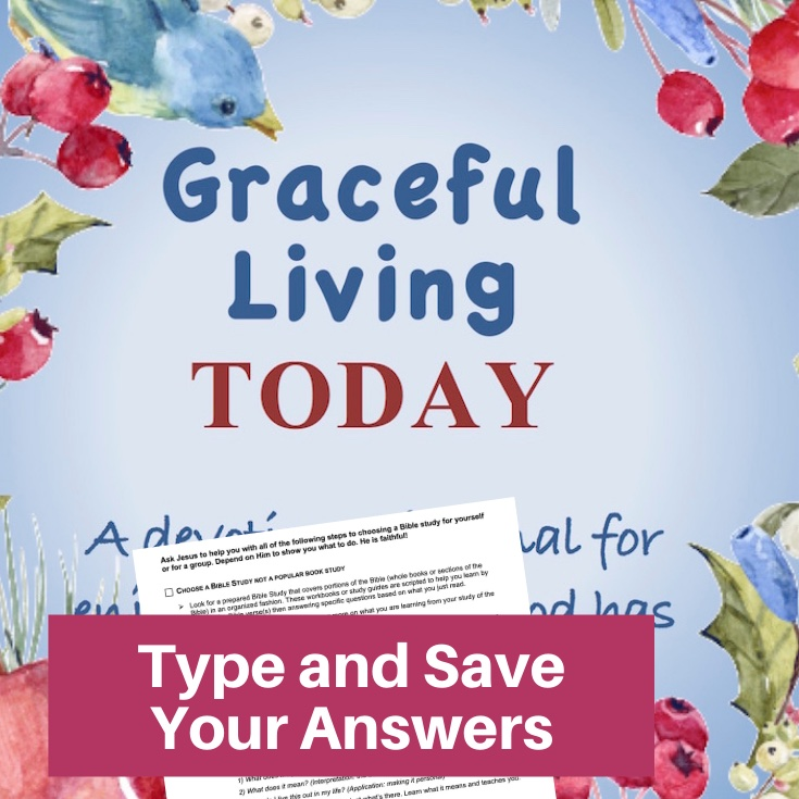 Graceful Living Today Devotional-Interactive Fillable Workbook