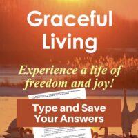 Graceful Living Bible Study-Interactive Fillable Workbook