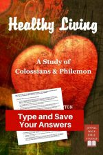 Colossians Bible Study in Fillable Form-Type and save your answers