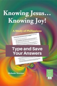 Philippians Bible Study in Fillable Form-Type and save your answers