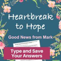 Mark Bible Study-Interactive Fillable Workbook