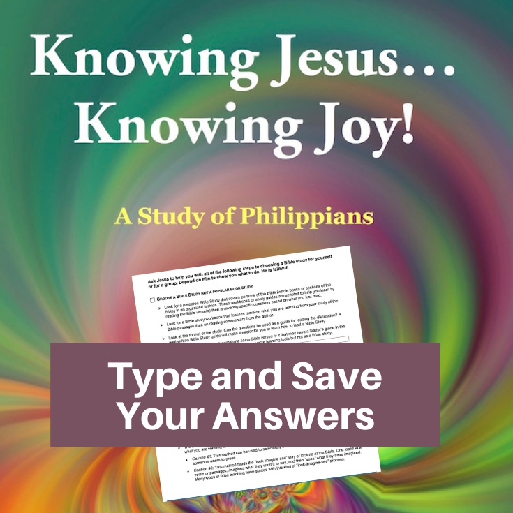 Philippians Bible Study-Interactive Fillable Workbook