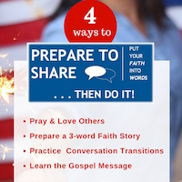 Prepare to Share your faith