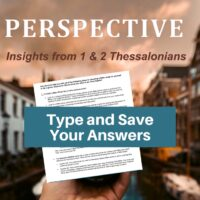 1 and 2 Thessalonians Bible Study-Interactive Fillable Workbook