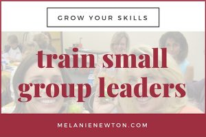 Train small group leaders for your group. LeadABibleStudy.com